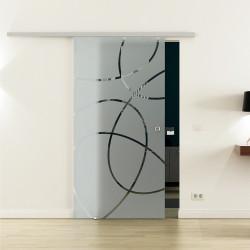 SoftClose-Glasschiebetür Design Essen LEVIDOR ProfiSlide Schienensystem