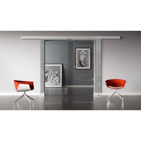 Glasschiebetür Klarglas Standard-Beschlag Sydpark optional: SoftClose