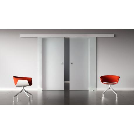 Glasschiebetüren vollsatiniert Standard-Beschlag Sydpark optional: SoftClose - 2 Scheiben