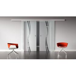 Glasschiebetüren Design Amsterdam (A) Standard-Beschlag Sydpark optional: SoftClose - 2 Scheiben