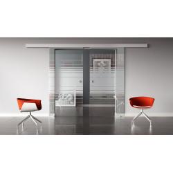 Glasschiebetüren Design Hamburg (H) Standard-Beschlag Sydpark optional: SoftClose - 2 Scheiben