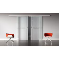 Glasschiebetüren Design Ingolstadt (I) Standard-Beschlag Sydpark optional: SoftClose - 2 Scheiben