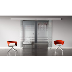 Glasschiebetüren Design Landshut (L) Standard-Beschlag Sydpark optional: SoftClose - 2 Scheiben