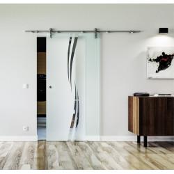 Glasschiebetür Edelstahl-Beschlag Levidor Design Amsterdam