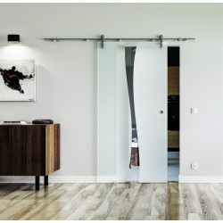Glasschiebetür Edelstahl-Beschlag Levidor Design Berlin