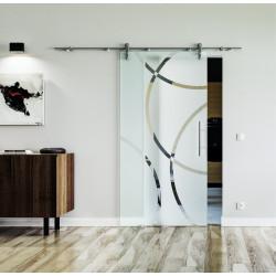 Glasschiebetür Edelstahl-Beschlag Levidor Design Coburg