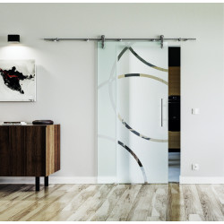 Glasschiebetür Edelstahl-Beschlag Levidor Design Düsseldorf