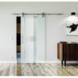Glasschiebetür Edelstahl-Beschlag Levidor Design Ingolstadt