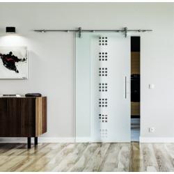 Glasschiebetür Edelstahl-Beschlag Levidor Design Quickborn