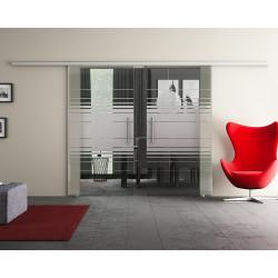 Doppel-Glasschiebetür Design Hamburg DORMA Muto 60 optional: SoftClose