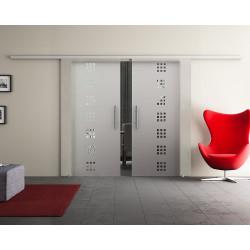 Doppel-Glasschiebetür Design Quickborn DORMA Muto 60 optional: SoftClose