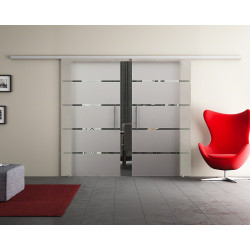 Doppel-Glasschiebetür Design Stuttgart DORMA Muto 60 optional: SoftClose