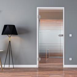 Ganzglastür Drehtür ESG-Glas in Design Landshut für Studio / Studio und Studio / Office
