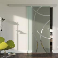Glasschiebetür Design Coburg (C) Standard-Beschlag Sydpark optional: SoftClose